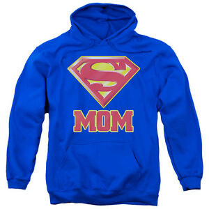 Superman SUPER MOM Licensed Adult Sweatshirt Hoodie