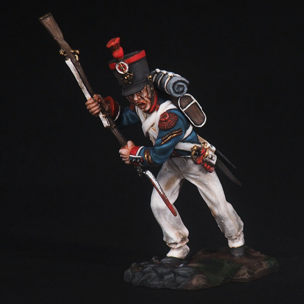 Tin Soldier, Sergeant of the linear infantry grenadiers, Battle of Waterlo 54 mm