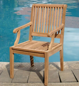 Image Is Loading Arm Chair A Grade Teak Garden Outdoor Furniture