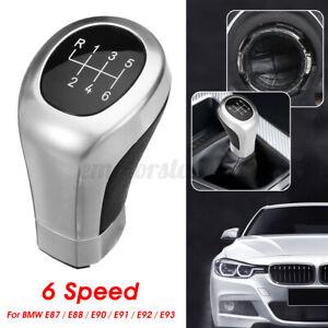 6-Pommeau-Levier-de-Vitesse-Noir-Chrome-pour-BMW-E81-E82-E87-E88-E90-E91-E92-E93