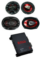 2) Boss Ch6530 6.5 300w + 2) Ch6920 6x9 350w 2-way Speakers + R1004 400w Amp on sale