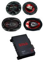 2) Boss Ch6530 6.5 300w + 2) Ch6920 6x9 350w 2-way Speakers + R1004 400w Amp on sale