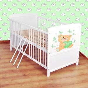Babybett-Kinderbett-Juniorbett-umbaubar-140x70-Weiss-nr-25