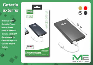 Bateria-Externa-9000mAh-Power-Bank-Carga-Rapida-Cargador-Universal-Movil