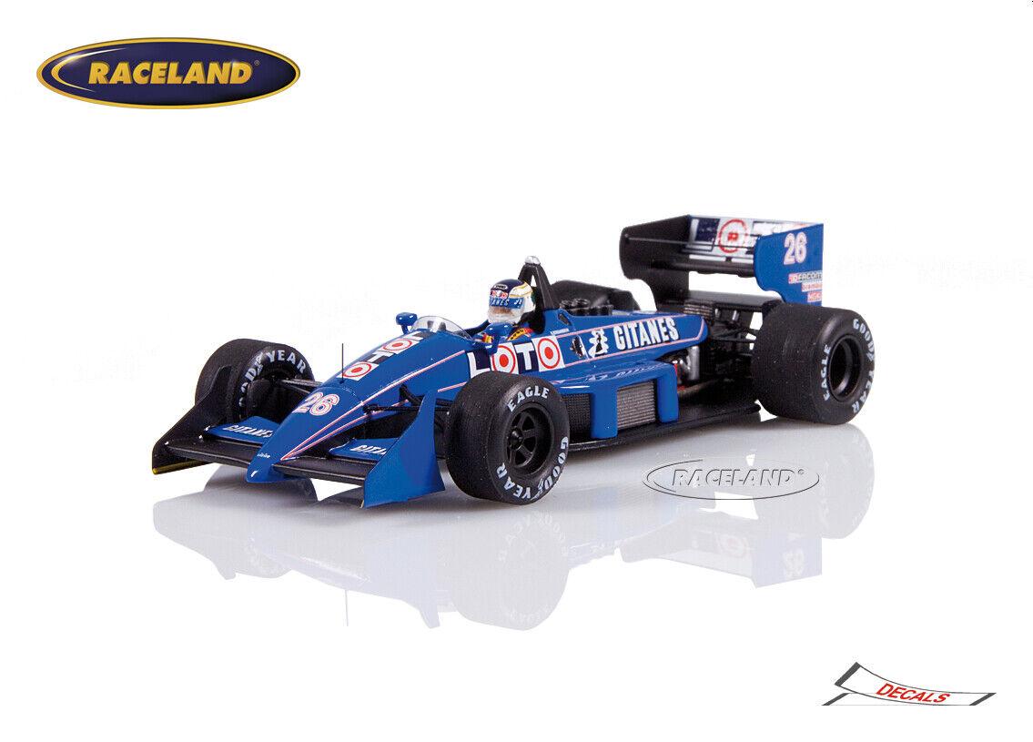 Ligier js31 Judd f1 loto ligier gp EE. UU. detroit 1988 Stefan Johansson, Spark 1 43