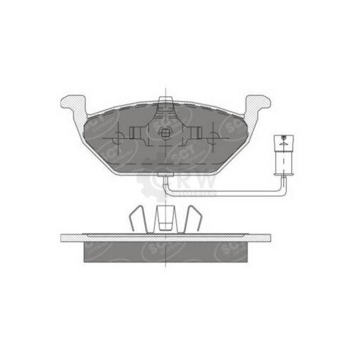 Original SCT Germany Bremsbelagsatz für Vorderachse SP 136 PR Bremsklötze vorne
