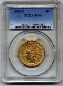 1910-D PCGS MS61 $10 Indian Gold Eagle