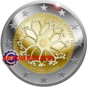 2-Euro-Commemorative-Chypre-2020-Institut-Neurologie-et-Genetique-UNC-NEUVE