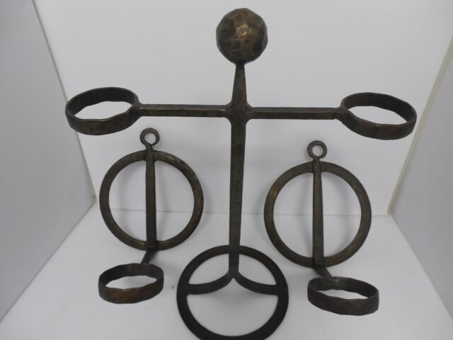 VINTAGE 3 PIECE SET OF ERIC HOGLUND BODA  WALL SCONCE HOLDERS AND CANDLE HOLDER