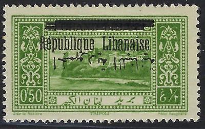 Süß GehäRtet Libanon 1928 0.50 Republik Arabisch Ovpt Invertiert Sg 125a Licht Mit Scharnier Briefmarken Libanon