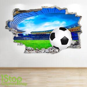7c05fd88 Details about FOOTBALL STADIUM WALL STICKER 3D LOOK - BOYS KIDS BEDROOM  WALL DECAL Z540