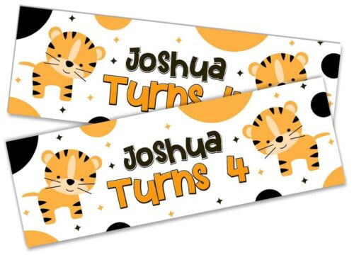 Details about  /x2 Personalised Birthday Banner Animal Children Party Decoration Poster 8