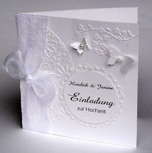Details Zu Personalisierte Einladungskarte Hochzeit Taufe Kommunion Konfirmation H28