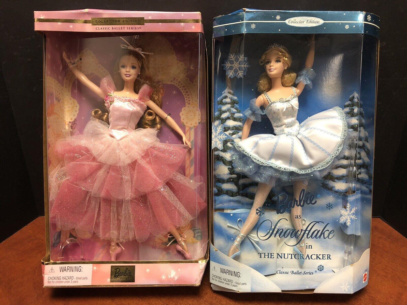 Barbie Classic Ballet Series Flower & Snowflake Nutcracker Lot Of 2 EM4363