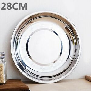 Camping-Stainless-Steel-Tableware-Dinner-Plate-Dish-Food-Container-Tray-7Sizes