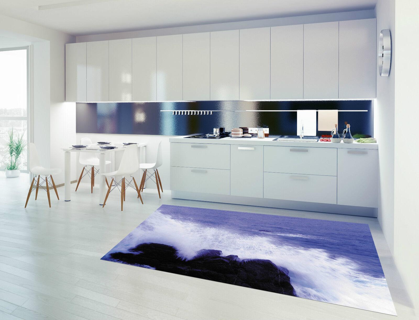 3D Excited Waves Kitchen Mat Floor Murals Wall Print Wall Deco AJ WALLPAPER CA
