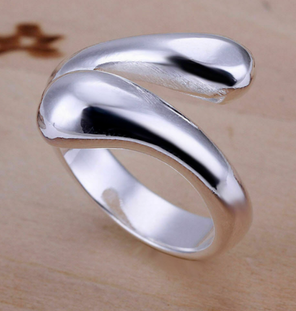 UK Little fish Lady Girl 925 SILVER Plate PLT ADJUSTABLE OPEN BAND THUMB RING