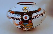 ZIA Pueblo EAGLE DANCER Native American Indian pottery Signed JD MEDINA drummer