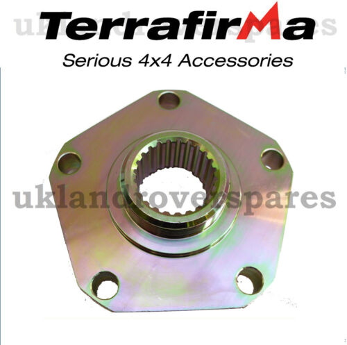 LAND ROVER DISCOVERY 300TDI HEAVY DUTY DRIVE FLANGES 24 SPLINE PAIR TERRAFIRMA
