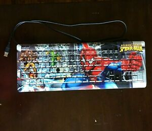 Marvel-Spider-Man-Spider-Sense-Desktop-Computer-Keyboard-WORKS-Sinister-Six-USB