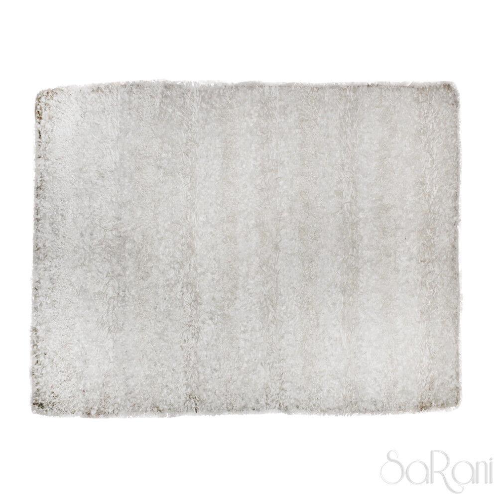 Tappeto Pelo Moderno Sissi Shaggy Pelo Tappeto Lungo Morbido Soggiorno Multiuso Bianco SARANI 637b22