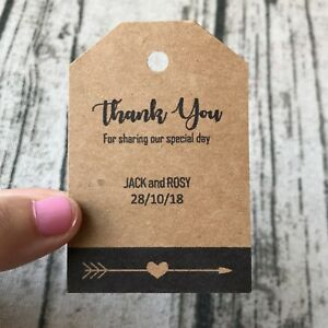 20x-Personalized-Thank-You-Rustic-Wedding-Favor-Tags-Gift-Labels-Cards-Any-Texts