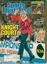 BOB KNIGHT SIGNED 1987 SPORTS ILLUSTRATED INDIANA HOOSIERS W/ COA