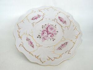Weimar-Jutta-Pink-Cabbage-Rose-German-Porcelain-Charger-Plate-Dish-1691B