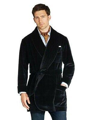 Men Black Smoking Jackets Elegant Luxury Designer Belted Party Wear Blazers Coat