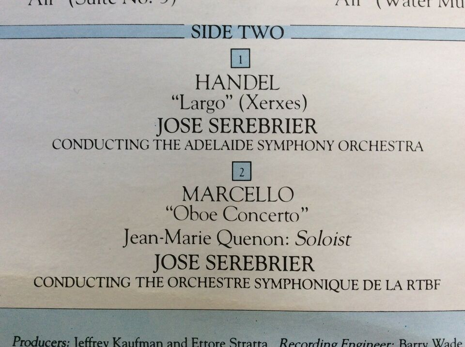 LP, José Serebrier, A BAROQUE COLLECTION