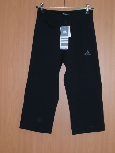 adidas Trainingshose 3/4 Fitnesshose Pants Capri schwarz climalite 34 36 neu
