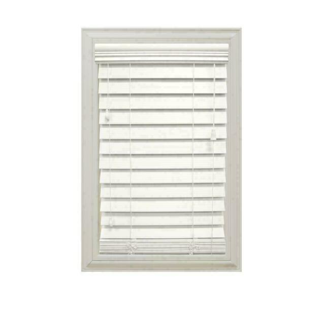 Faux Wood Blinds White 29 X 64