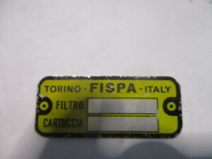 Fispa Filtre à Carburant Panneau Type Maserati Alfa Fiat Lancia Ferrari S48 Nouveau Design (En);