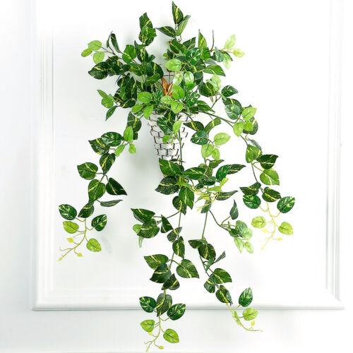Artificial Ivy Leaf Garland Plant Foliage Hanging Window Decor Wreath Leaves EAX