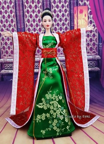 Princess Japan Chinese Gown Dress Outfit Barbie Silkstone Fashion Royalty Asian