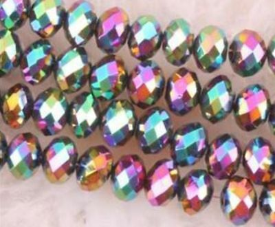 AAA 1000pcs 3X4mm Multicolor Crystal Faceted Loose Beads