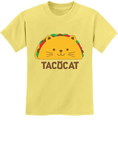 TacoCat Spelled Backwards Is Taco Cat Funny Youth Kids T-Shirt Palindrome