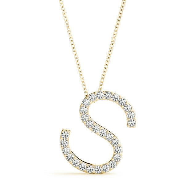 FOREVER ONE MOISSANITE ROUND INITIAL LETTER PENDANT PERFECT GIFT