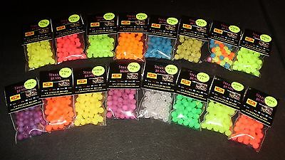 MAD RIVER 16 PKG SUPER UV 8mm STEELIE BEADS-STEELHEAD-SALMON FREE BEADS INCLUDED