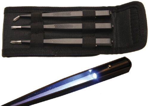BGS 3129 LED Pinzetten-Satz, 3-tlg.