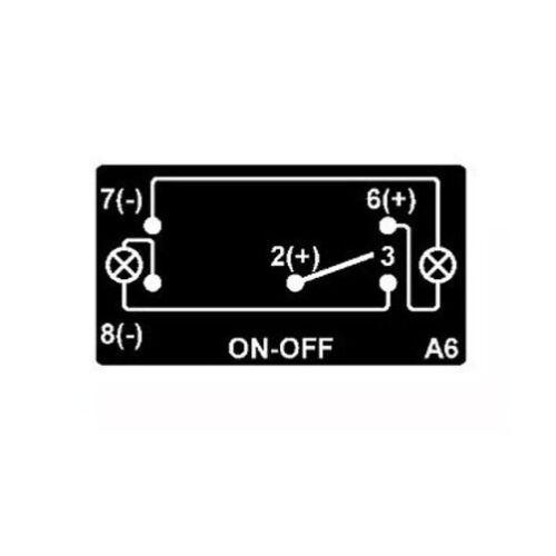 DUAL BACKLIT LED GREEN INTERIOR LIGHT ROCKER SWITCH ON OFF 4X4 UTV WATERPROOF