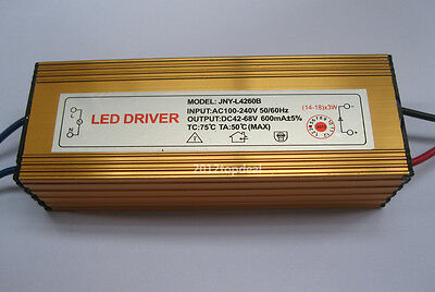 Constant Current Driver for 14-18pcs 3W High Power LED AC85-265V IP66 Waterproof