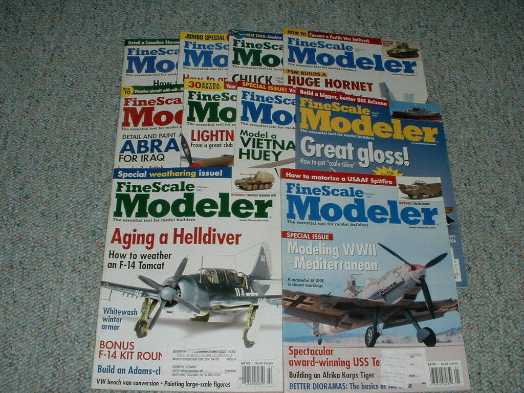 Fine Scale  Modeler Magazine Complete set 2003  All 10  issues