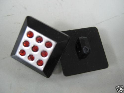 Plastic Button Black Acrylic Stone Plastic Base 5pcs ABS Buttons Buttons