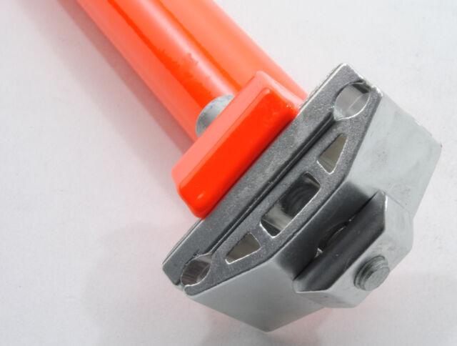 SEAT POST PROMAX 31.6 mm w// CLAMP 400mm FLUORESCENT//NEON ORANGE 31.6mm