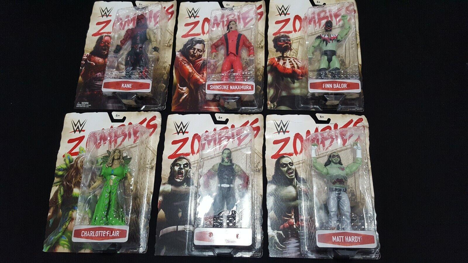WWE Zombies Series 3 set lot Kane Finn Bálor Hardys Flair Nakamura new complete