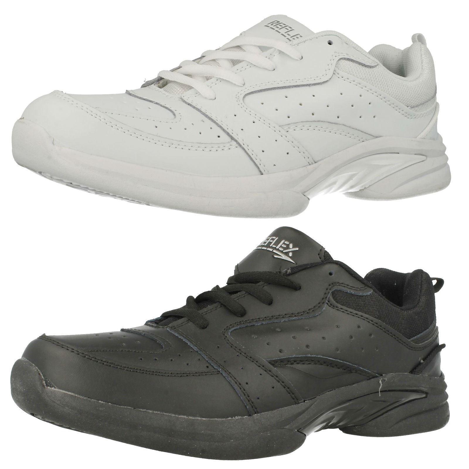 Hombre Reflex Negro/Zapatillas Sizes Blancas con Cordones Gb Sizes Negro/Zapatillas 7-12 A2R124 177c48