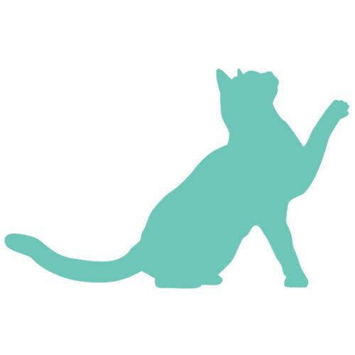 Animal Chaton Chat qui lève la patte 10x16 cm à 30x46 cm Sticker Décoration