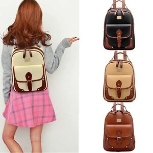 Hot-Women-Vintage-PU-Leather-Travel-Shoulder-Satchel-Backpack-School-Bag-Handbag