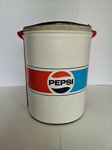 Vintage-Pepsi-Can-Round-Cooler-Used